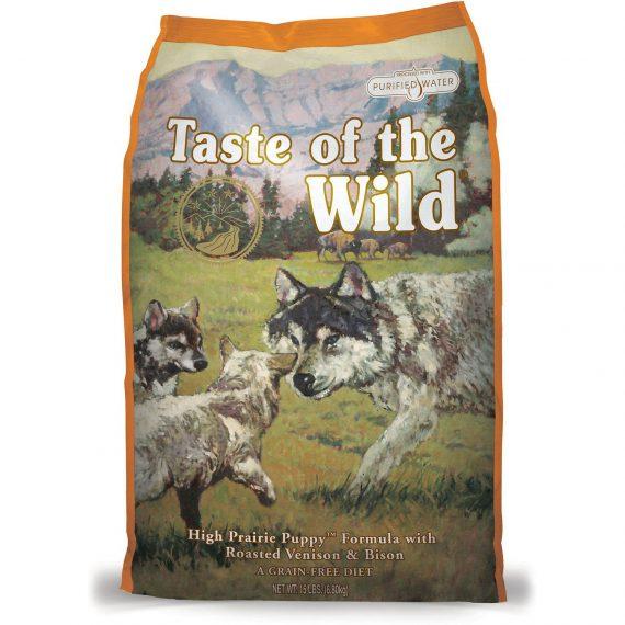 hrana pentru catiei juniori Taste of The Wild High Prairie Puppy