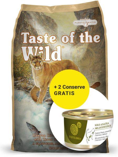Taste of The Wild Canyon River - 7 kg + 2 Conserve Equlibria Gratuite