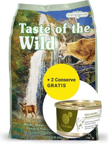 Taste of The Wild Rocky Mountain - 7 kg + 2 Conserve Equlibria Gratuite