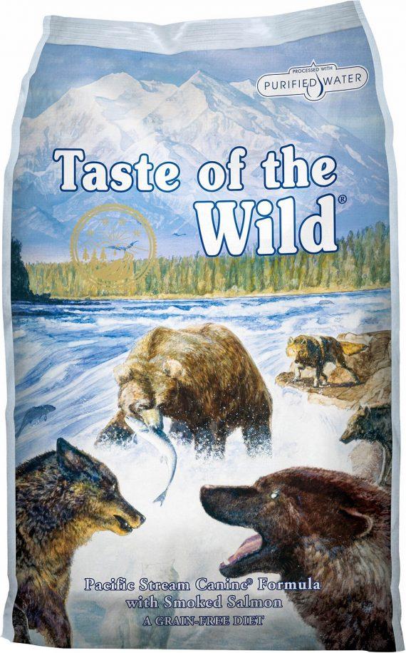 Hrana caini taste of the wild pacific stream canine formula adult